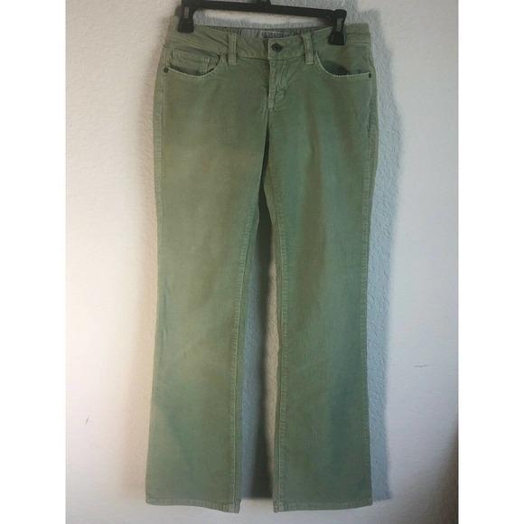Guess Jeans Women's Size 26 Green Stretch Corduroy